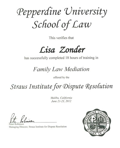 Zonder certificates Collaborative Divorce and Mediation training